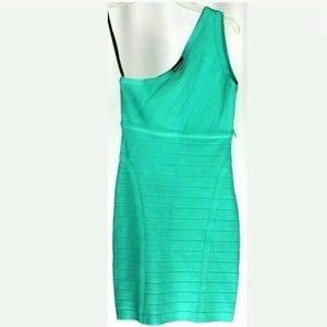 Bebe One Shoulder Stretch Body Con Dress XS